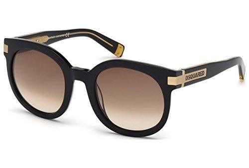 Dsquared2 Women's DQ0134 Acetate Sunglasses BLACK 52