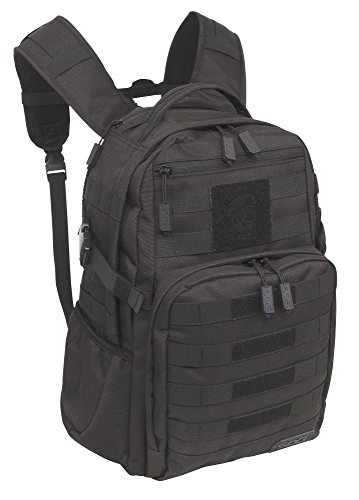 SOG Ninja Tactical Day Pack, 24.2-Liter Storage - Military Style - Water-Repellant Rugged MOLLE Backpack for Travel, School and Hiking - Provides Comfort and Organization - Heavy-Duty Design, Tactical Black