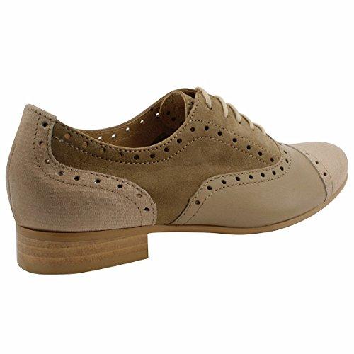 Mujer Marrón Zapatos Exclusif de Cordones Paris Para CXZYqzw