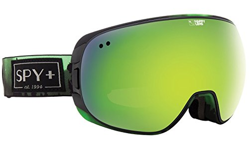Spy Optic Doom Snow Goggles, One Size (Aurora Green Frame/Happy Green Spectra + Happy Lucid Silver - Goggles Lens Happy Spy