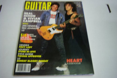 Guitar for the Practicing Musician January 1987 Neal Schon & Vivian Campbell With: Jimi Hendrix Eric Johnson U2 (Guitar for the Practicing Musician)