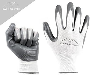 Blue Ridge Brand™ Work Gloves - Nitrile Gloves - Rubber Grip Gloves - Men's Work Gloves - Safety Gloves