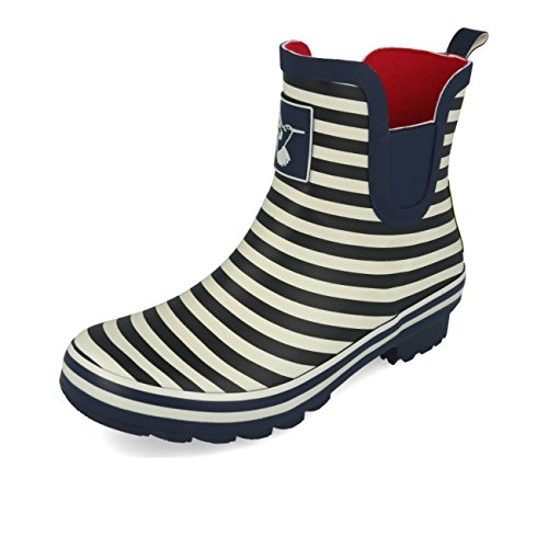Bristol Ankle Evercreatures Stripe Meadow Bleu Navy Booties 0q0A7wd