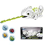 Aobiny Smart Chameleon Robotic Toy Electronic Pet with Remote Control Can Eat Things Function Funny...