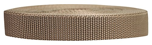 (Strapworks Heavyweight Polypropylene Webbing - Heavy Duty Poly Strapping for Outdoor DIY Gear Repair, 3/4 Inch x 50 Yards, Tan)