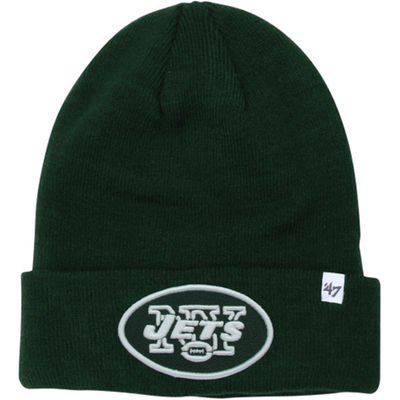 (New York Jets Green Cuff Beanie Hat - NFL NY Cuffed Knit Toque Cap)