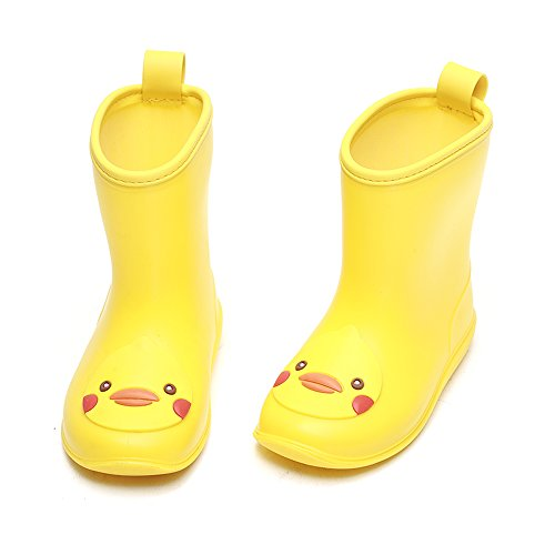DKSUKO Toddler Kids Rain Boots Waterproof Cartoon Yellow for sale  Delivered anywhere in USA
