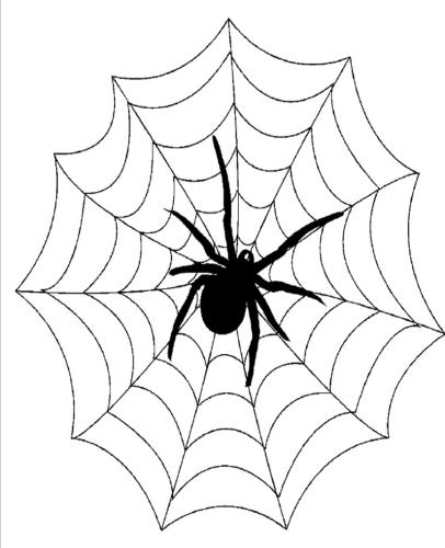 Big Black Halloween Spider Web Design School Composition Book 130 Pages: (Notebook, Diary, Blank Book) (Halloween Theme School Composition Books -