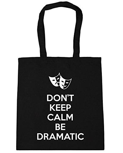 HippoWarehouse Tote Calm Don't Keep litres Gym 10 Black 42cm Shopping Be Beach Bag x38cm Dramatic wqqUAS5x