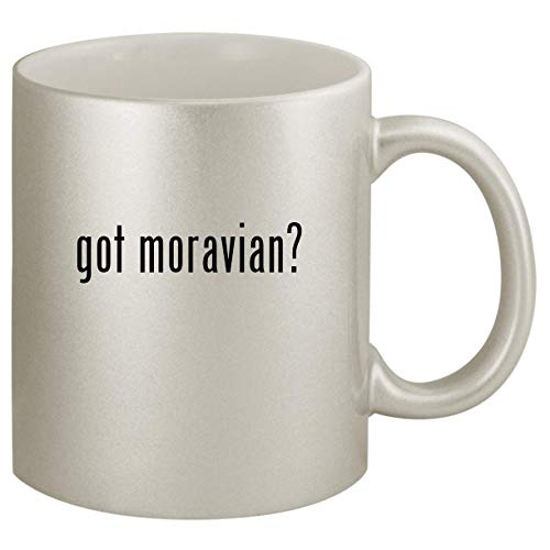 got moravian? - Ceramic 11oz Silver Coffee Mug, Silver (Jewelry Star Moravian)