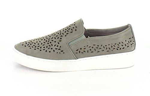VIONIC Womens Midi Perf Slip-On Sneaker in Grey