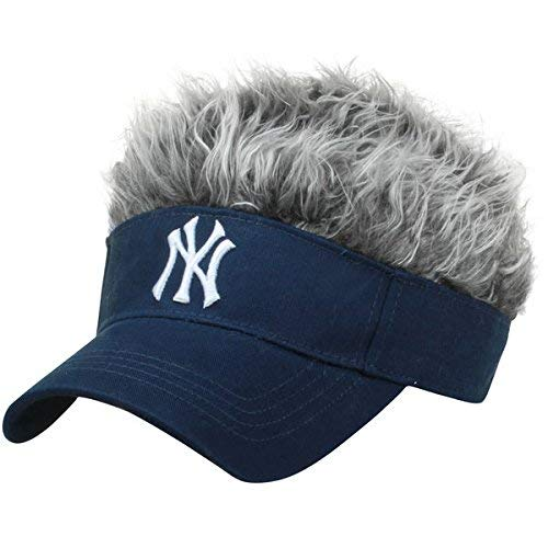 MLB New York Yankees Flair Hair Adjustable Visor, Navy