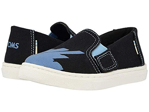 TOMS Tiny Luca Slip-On Shoes, Size: 11 M US Little Kid, Color: Blk CNVS/GLW in -