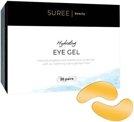 (20 Pairs) Gold Patch Under Eye Mask: Hydrating Anti Aging Patches for Puffy Eyes, Wrinkles and Eye Bags - Skin Brightening 24k Gel Depuffer Pads and Dark Circles Treatment Masks with Hyaluronic Acid