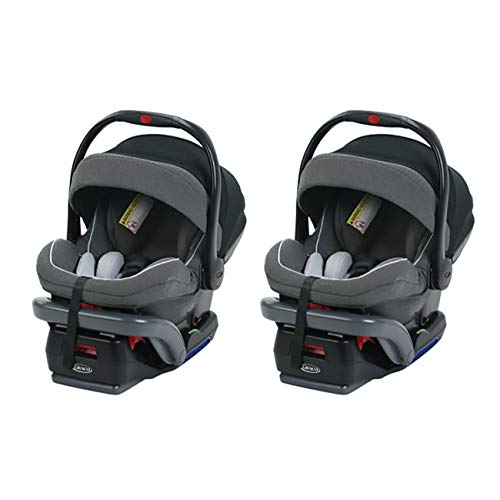 Graco SnugRide SnugLock 35 Platinum Rear Facing Baby Infant Car Seat w/Canopy (2 Pack)