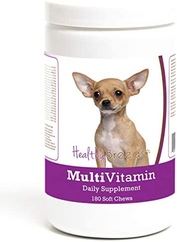 Healthy Breeds Multivitamin Daily Dietary Supplement – Over 200 Breeds – Vet Recommended Formula – Bacon Flavored Soft Chews – 60 Count