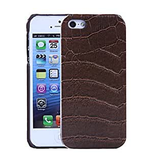 Fashionable Crocodile Pattern PU Leather Hard Case with Interior Microfiber Protection for iPhone 5/5S Protective Case (s) ,Color: Black