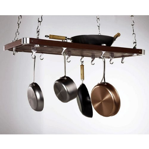 Concept Housewares PR-49232 Hanging Pot Rack, Espresso, 36