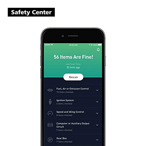 nonda ZUS Smart Vehicle Health Monitor, Wireless Bluetooth OBD2 Car Code Reader with App, No Monthly Fee & Real-Time Pro Dashboard, OBDII Scan Tool for iPhone & Android by nonda (Image #4)
