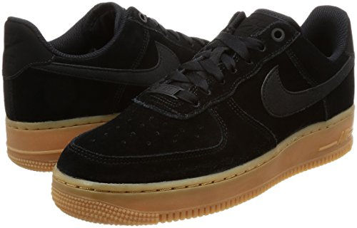 Brown Air De Force '07 Mujer gum Med black 1 Se ivory Wmns Para Nike Multicolor black 002 Deporte Zapatillas axqwRR