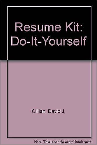 Resume Kit: Do-It-Yourself: David J. Cillian: 9781880398043 ...