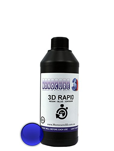 Monocure3D 3DR3587BK-1000 Rapid Resin, 1 L, 34 oz, Black