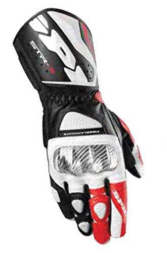 Spidi Sport S.R.L. STR-3 Gloves, Distinct Name: Black/Red, Gender: Mens/Unisex, Size: 3XL, Apparel Material: Leather, Primary Color: Black A139-021-3X