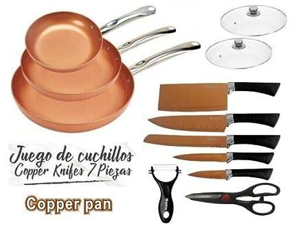 Compra Maxell Power CE Juego DE 3 SARTENES 2 Tapas Cuchillos Tijeras ...
