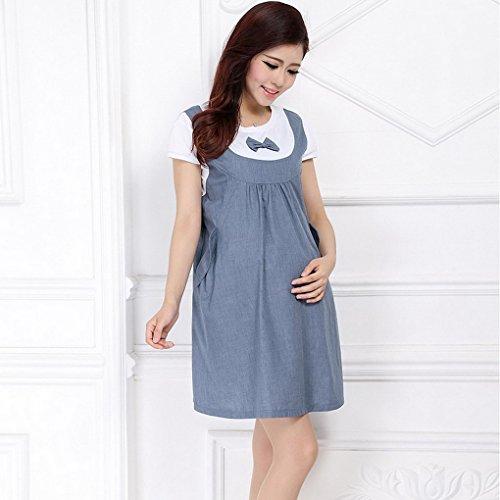 Verano cortas Mangas Algod Maternidad de Embarazo Acmede Vestido mujer qWOAwA7X