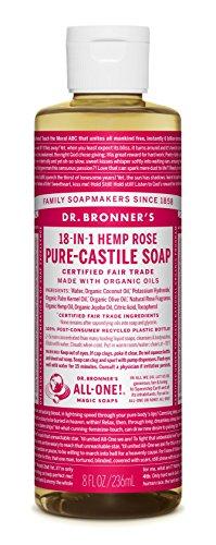 Price comparison product image Dr. Bronner's Fair Trade & Organic Castile Liquid Soap - (Rose, 8 oz)