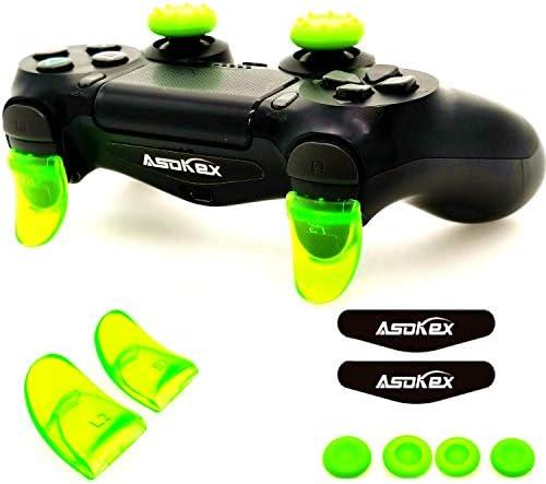 Asokex 2 Pares de Botones Extensores para Controlador PS4 L2 R2 con 4 Tapones de Silicona y 2 Pares de Luces LED para Controlador PS4 Slim PS4 Pro: Amazon.es: Electrónica