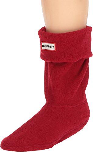 Hunter Unisex Short Boot Socks Military Red Large
