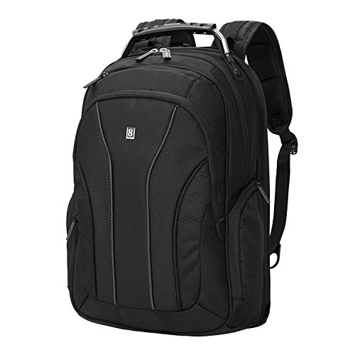 (LEVEL8 Laptop Backpack Bussiness Travel Computer Bag Fits 15.6 Inch Laptop (Black) )