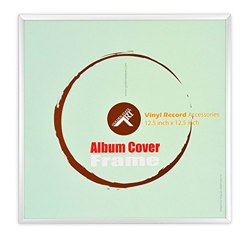 - Golden State Art 12.5x12.5 inch Aluminum Vinyl Record Album Cover Frame, Silver Color