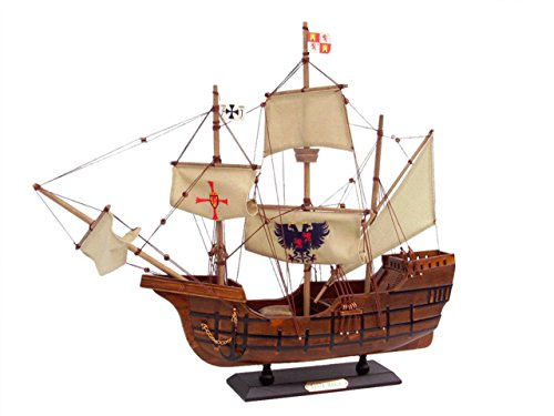 Hampton Nautical Wooden Santa Maria Limited Tall Model Ship, 20