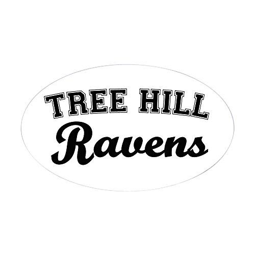 CafePress - Tree Hill Oval Sticker - Oval Bumper Sticker, Euro Oval Car - Sophia Clothes Bush