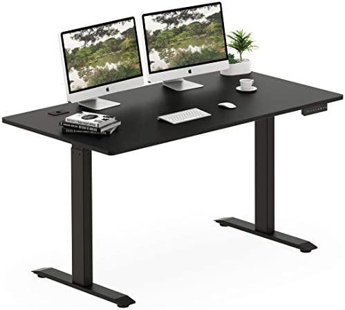 SHW Electric Height Adjustable Computer Desk, 55 x 28 Inches, Black