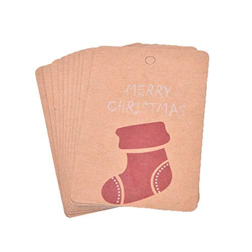 10pcs/lot Cartoon Small Santa Claus snowman Merry Christmas Postcard Greeting Card Gift Card Christmas card party supplies ()