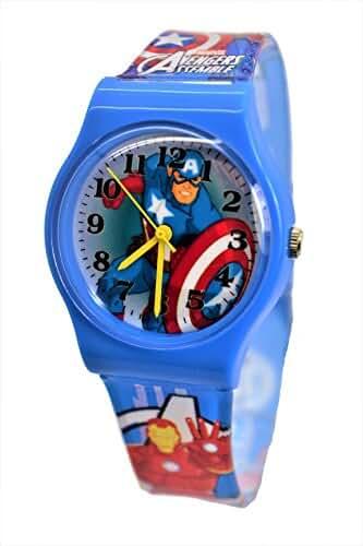 Marvel Avengers Captain America Watch For Children. Analog Large Dial. 9