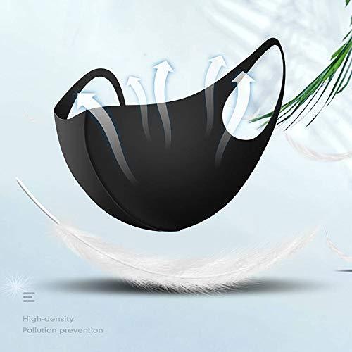Jenam 8 Pcs Unisex Black Cotton Face Mouth Mask Washable Reusable Cloth Face Masks for Men Women, Anti Dust Masks for…