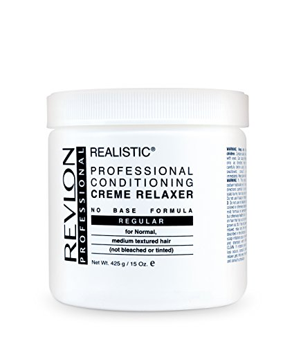 Base Creme Relaxer (Revlon Realistic No-Base Conditioning Creme Relaxer Regular 15 Oz Pack of 2)