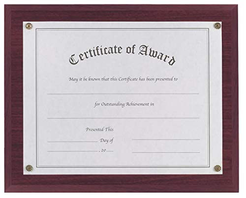 Nudell Award-A-Plaque Mahogany - 18813M, (Pack of 2) ()