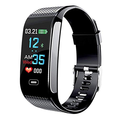 (Smart Wristbands Watch Fitness Tracker Blood Pressure Heart Rate Monitor IP67 Waterproof Fitness Tracker Pedometer Sport Bracelet (Black))