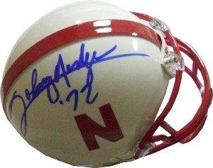 Johnny Rodgers signed Nebraska Cornhuskers Mini Helmet '72 (Heisman) - Autographed College Mini Helmets
