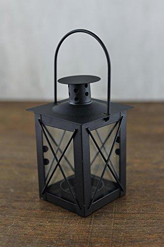 - Richland Black Metal & Glass Tealight Lanterns 5