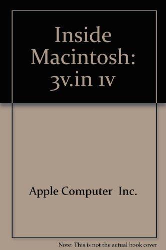 Apple Inside Macintosh, Volumes I, II, and III