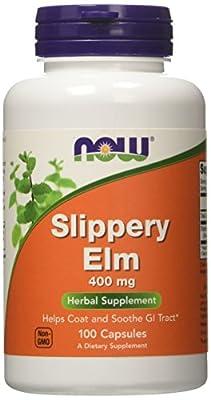 NOW Slippery ELM 400 mg, 100 Capsules