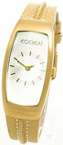 Kookai SPE1610-0002 - Reloj analógico de cuarzo para mujer, correa de cuero color beige