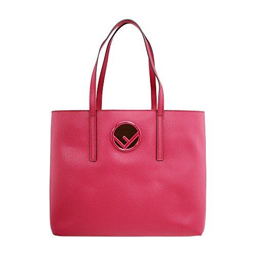 Bag Red Fendi (Fendi Shopper Ladies Medium Red Leather Tote Handbag 8BH348A0ZGF11CG)