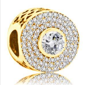 Fashion 1pcs Gold European Charm Crystal Spacer Beads Fit Necklace Bracelet pretty good party decoration designer jewelery girl stylish bracelet styling fashion